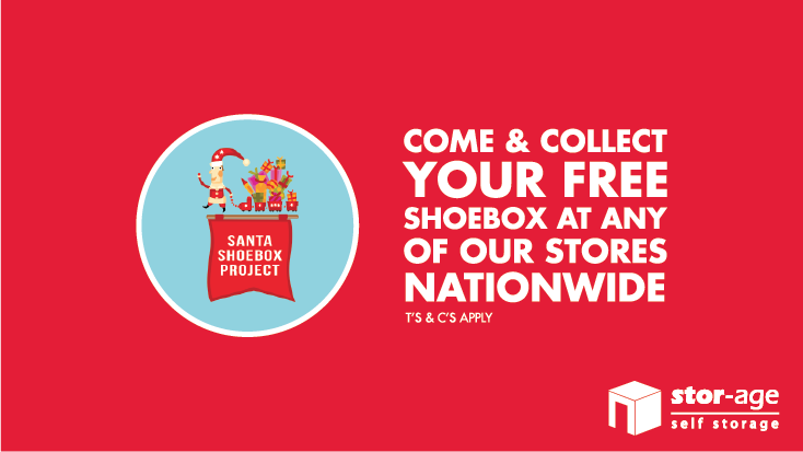 Stor-Age is Helping Santa Shoebox Project March to One Million Happy Hearts.