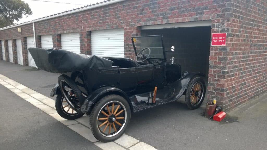 1922 Model T Car leaves Edgemead Self Storage