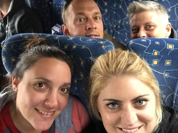 Stor-Age Self Storage staff on the way to conference