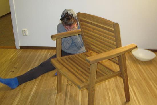 DIY fail - chair back