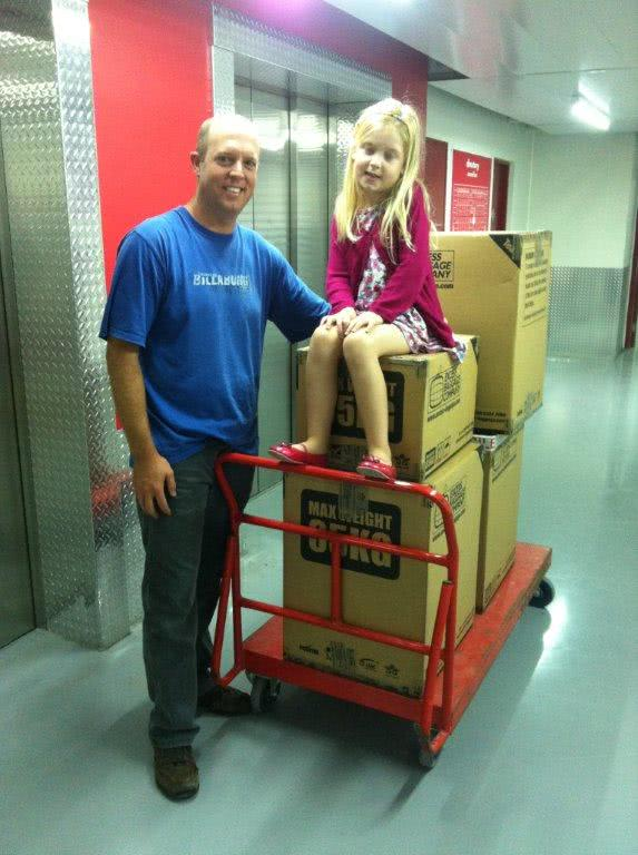 David and Zoey Thompson use Stor-Age Self Storage