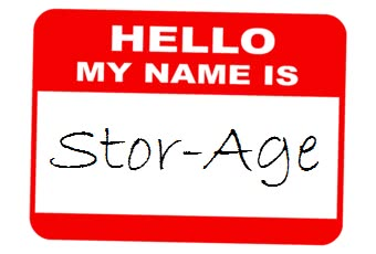 Hello my name is Stor-Age name tag