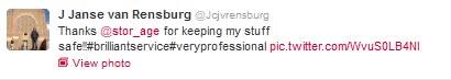 J Janse van Rensburg tweet