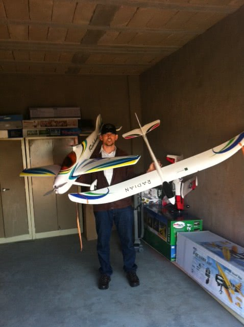 Model aircraft in a self storage unit