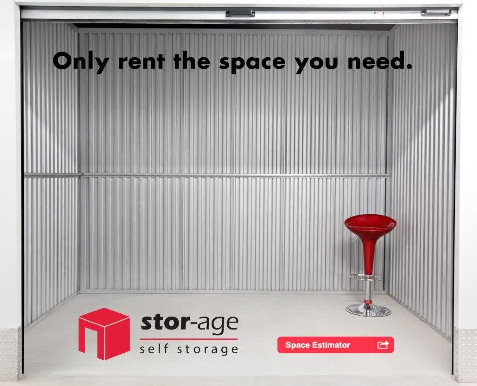 Only rent the self storage space you need