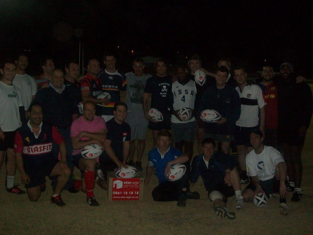 Pirates Rugby Club gets sponsored with Stor-Age Self Storage rugby balls