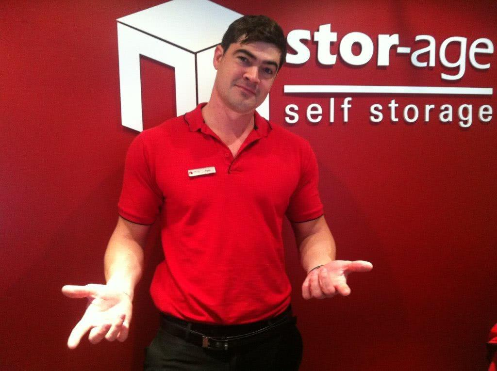 Ryan from Stor-Age giving an excuse for moving