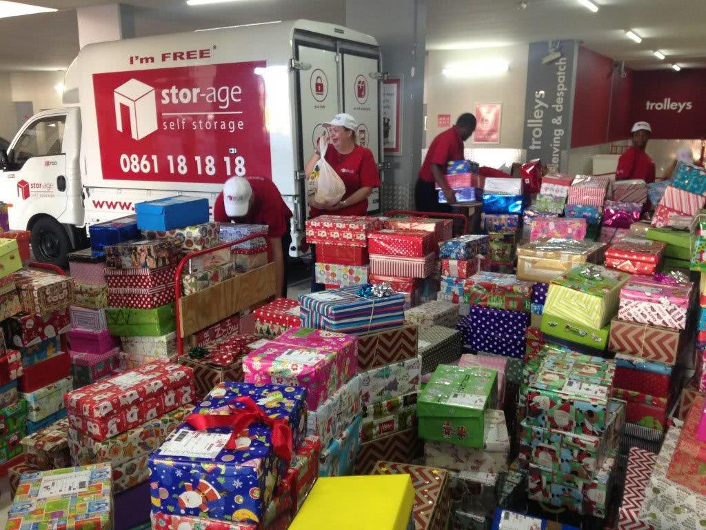 Santa Shoebox at Stor-Age Gardens