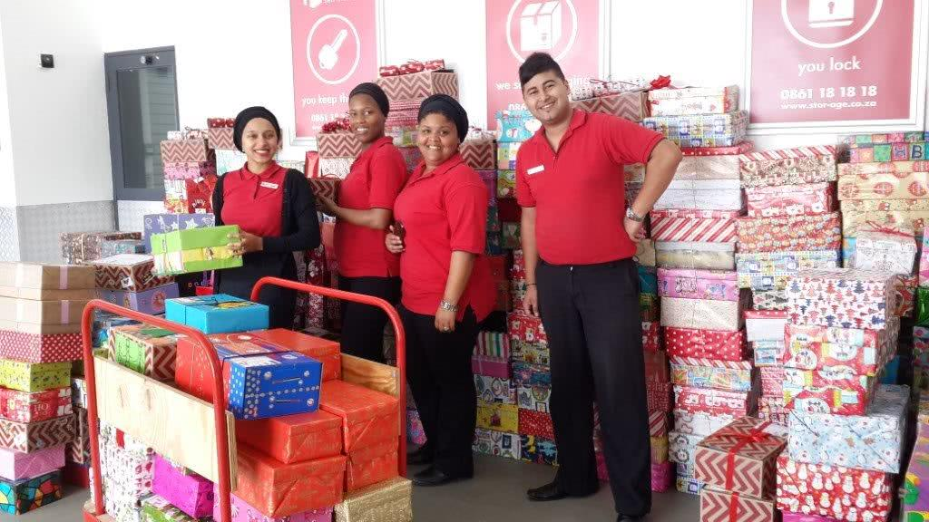 Stor-Age Self Storage supports Santa Shoebox charity