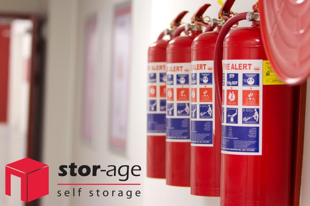 Stor-Age security feature fire extinguishers