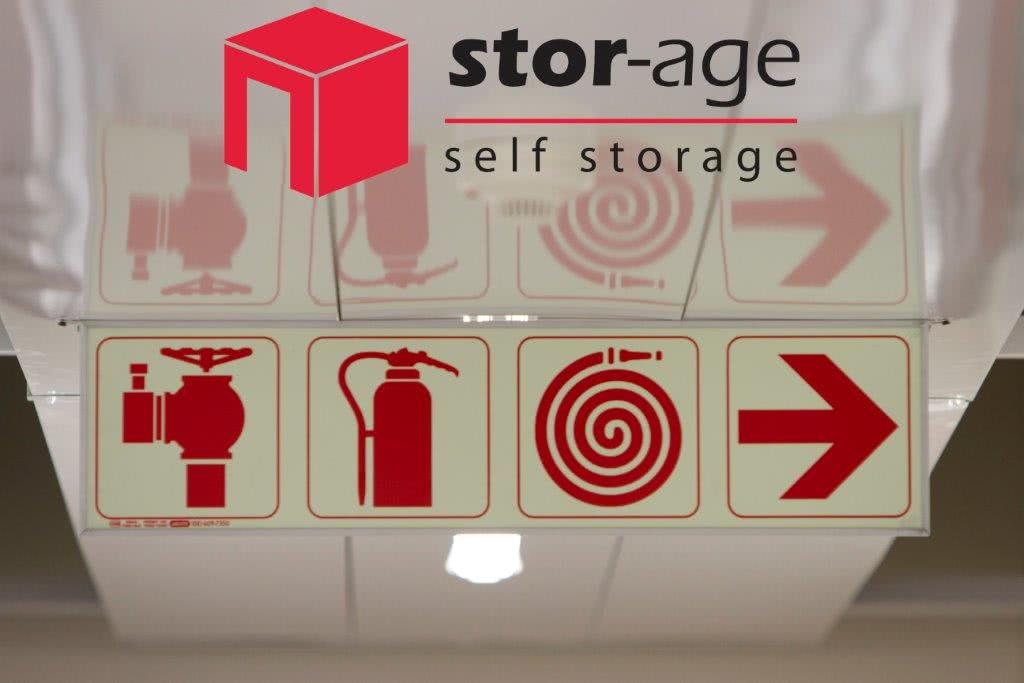 Stor-Age security feature luminescent signage