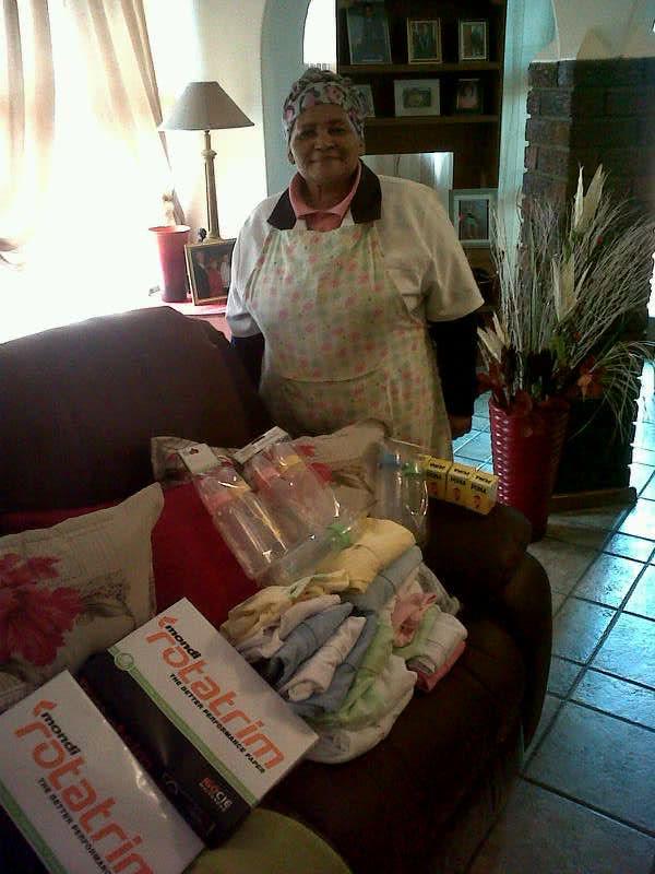 Stor-Age donated baby goods to Ubuntu House