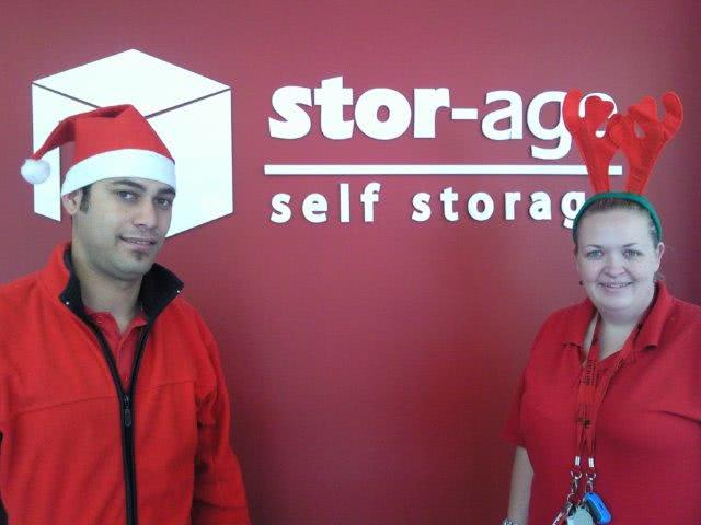 Stor-Age Self Storage festive season cheer with Waheed and Cisca