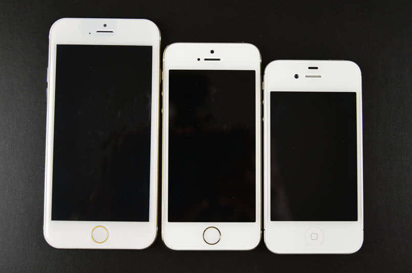 iPhone 4, 5 and 6