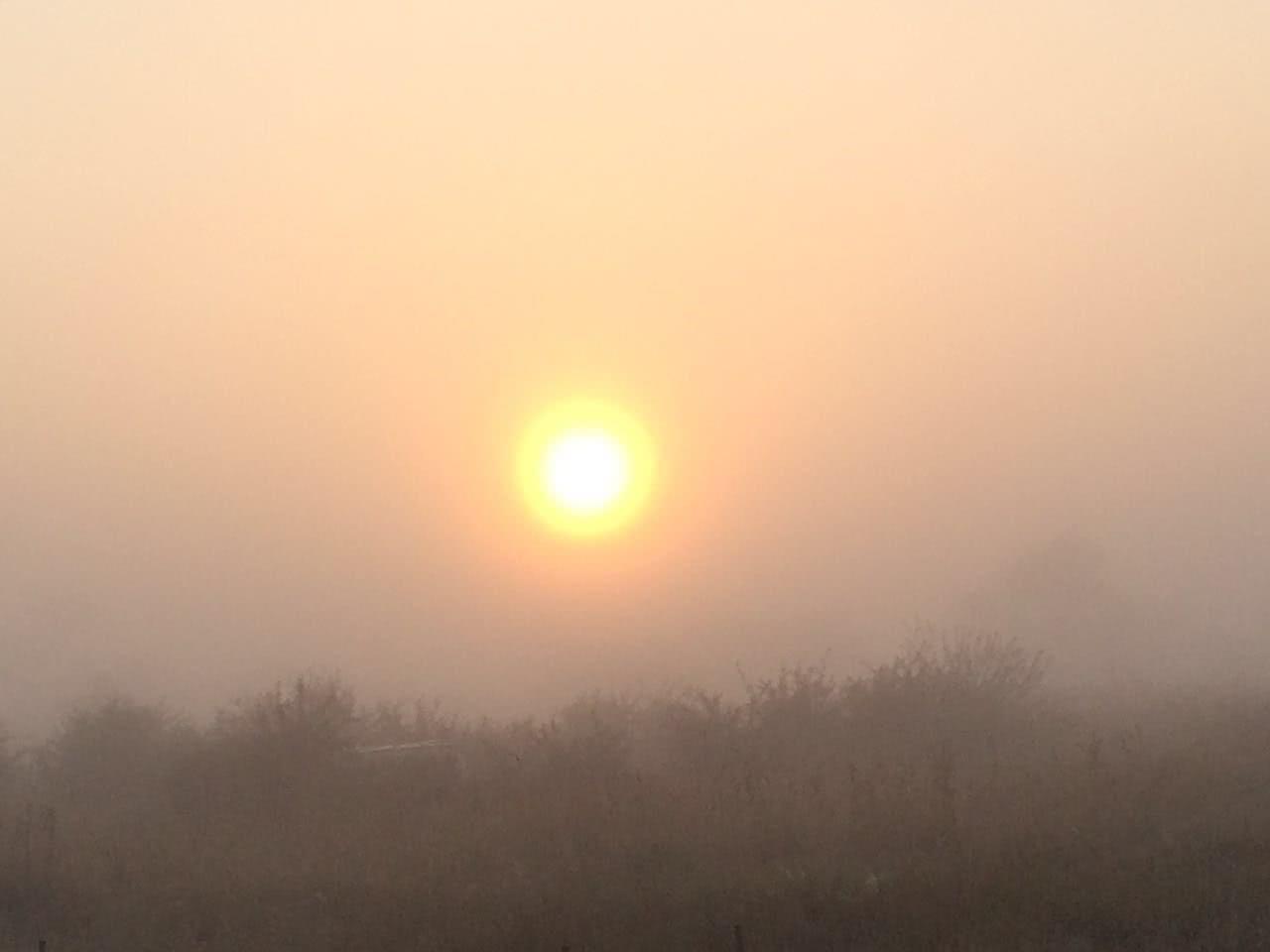 Sunrise taken from car