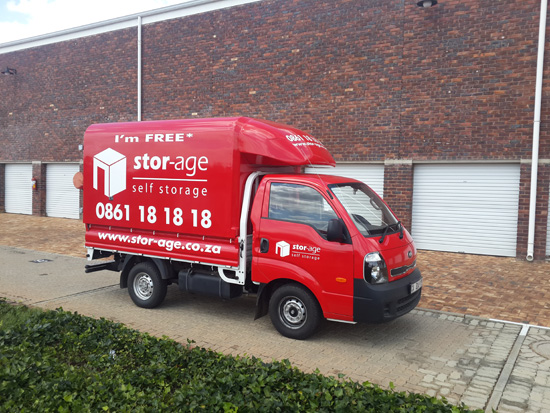 Stor-Age Self Storage West Rand Van in red