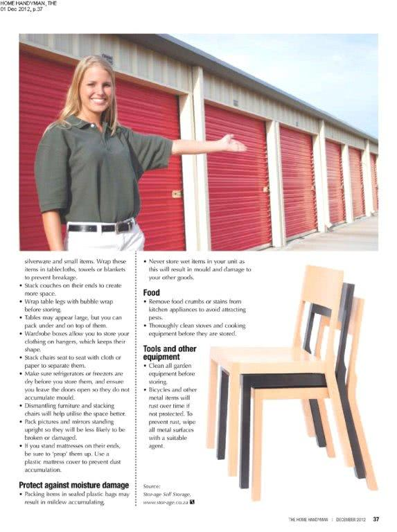 Stor-Age Self Storage tips and hints from the Home Handyman Magazine